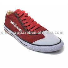 2014 nuevos zapatos de lona del hombre de la moda con la suela vulcanizada