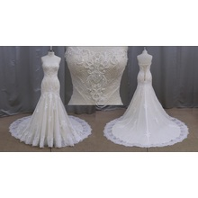 Ruffles Wedding Dress with Lace up Bridal Dress