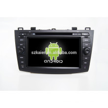 HOT!car dvd with mirror link/DVR/TPMS/OBD2 for 8 inch full touch screen 4.4 Android system MAZDA3