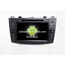 HOT! Carro dvd com espelho link / DVR / TPMS / OBD2 para 8 polegada tela de toque completo 4.4 sistema Android MAZDA3