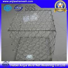 Gabion à mailles hexagonales en fer galvanisé pour construction de routes