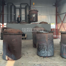 Fogão de carbono de carvão de madeira do forno de carbonização horizontal do coco