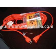 cabo de extensão elétrica 50 ft calibre 16 / 3 15 pés 9ft 20ft 30 pés UL EUA tipo ao ar livre