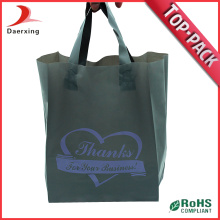 Printed Clothes Packaging Loop Handle Plastic Bag