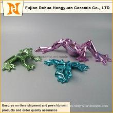 Цветная керамическая глянцевая лягушка (домашнее украшение)