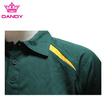 Polyester Vert Personnalisé Polo Shirts Hommes