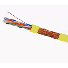 SFTP CAT6 LSZH Câble Fluke Testé Soild Nare Copper Yellow