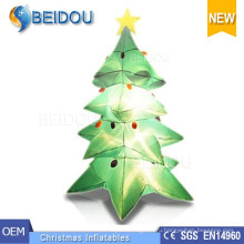 Гигантское светодиодное освещение Рождественские елки Украшение Надувная Рождественская елка