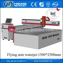 1500 * 2500mm cnc cantilever type pierre machine de découpe
