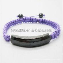 2013 Bracelet tissé violet à l'hématite magnétique