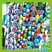 prix bas beaucoup de formes et couleurs perles de verre de millefiori