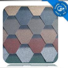 Teja autoadhesiva del tejado del asfalto del mosaico / teja colorida de la fibra de vidrio / material de techumbre del betún con ISO (12 colores)