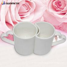 Sublimation tasse en céramique mug de couple tasse d'amant fournisseur de porcelaine