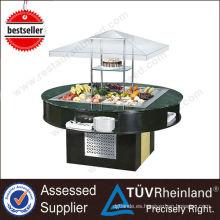 Refrigerador de barra de ensalada refrigerada R134 / R404 de equipo de catering