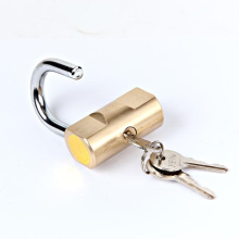 Custom unbreakable metal hammer type padlock door latch theftproof brass hammer padlock with three keys