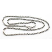Hochwertige Silber Edelstahl Sq Perlenkette