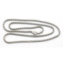 High Quality Silver Stainless Steel Sq Pearl Chain