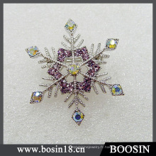 Broche femme strass flocon de neige à la mode # 5203