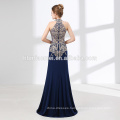 High quality alibaba evening dress Royal blue sexy long evening dress gown