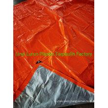 Orange Silver PE Tarp Cover Tarp