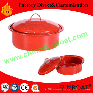 3qt Capacity Cast Iron Customized Color Enamel Stock Pot