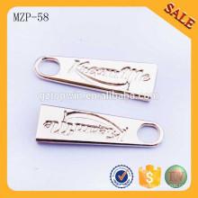MZP58 Pequeños tiradores del cierre relámpago del metal resbalador del tirador del bolso del metal de la mochila para las prendas de vestir
