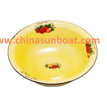 Lavatório grosso do esmalte do Sunboat prato de lavagem clássico da lavagem do prato do arroz da bacia do esmalte