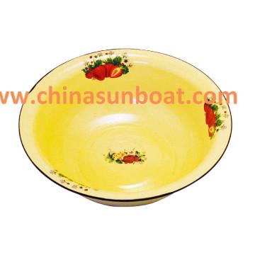 Lavabo en émail épais Sunboat Lavabo en lave de riz Lavabo en émail classique rétro