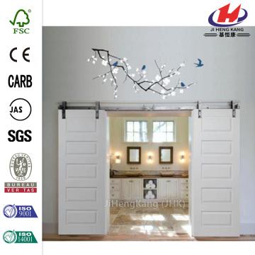 Smooth Composite Barn Door with Door Hardware Kit