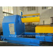 Desbobinador hidráulico resistente de 10 toneladas para la bobina del metal con el rollo del coche del cargamento que forma la máquina