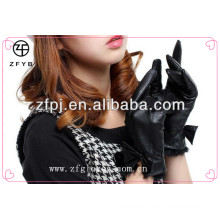 2016 nuevo diseño pulido guantes de cuero