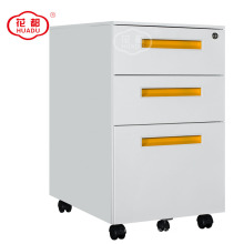 Under desk filing mobile cabinet metal movable pedestal with 3 drawers