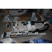 rígidas CE rib390 fibra de vidrio con barco inflable del pvc o del hypalon