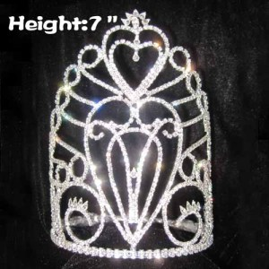7in Wholesale Pageant Crowns In Heart Shaped