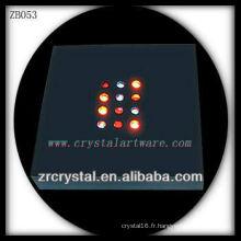 Base lumineuse en plastique de LED pour le bloc en cristal