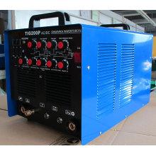 Durable DC MMA / TIG máquina de soldadura para la industria ligera TIG200PAC / DC
