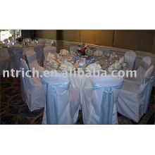 100% poliéster cubierta de la silla, cubierta de la silla de banquete del Hotel, marco del Organza