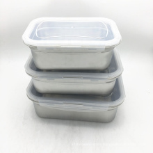304 Stainless Steel Lunch Box / Food Storage Containers/3 Size Food Container with Lid