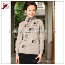 Stylish cashmere knitting woman formal sweater