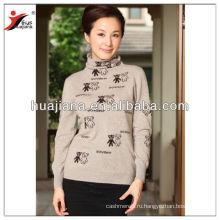 Стильный кашемир вязание женщины формальное свитер