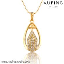 32553 xuping новый дизайн дамы элегантный ювелирные изделия 18k позолоченный ожерелье для женщин