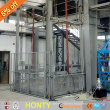 Chinese sales hydraulic industrial operated cage cargo freight elevator cost lift work platforms