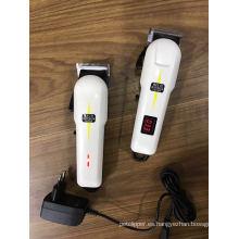 2017 profesional inalámbrico podadora salón uso pelo Clipper recargable Podadoras de pelo