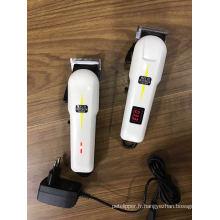 2017 professionnel sans fil tondeuse Salon utilisation cheveux tondeuse Rechargeable tondeuse à cheveux