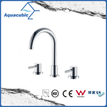 3 Holes Dual Handle Bathtub Faucet in Polish Chrome (AF6009-2)