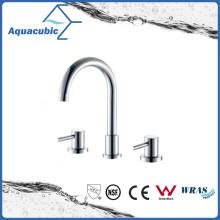 Faucet de banheira de mão dupla de 3 furos em polonês cromado (AF6009-2)