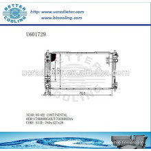 Radiador de aluminio para VOLKSWAGEN Continental 95-02 F70H8005AB / F70Z8005AA