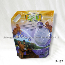Stand up Plastic Cat Litter Bag with Handle Hole