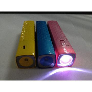 New gift 18650 cell type portable power bank with LED for mobile phone
