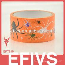 Orange spiders print duct tape in stock